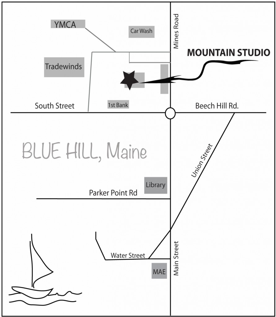 Blue Hill Mountain Studio Map