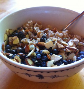 Quinoa Blueberry Cereal