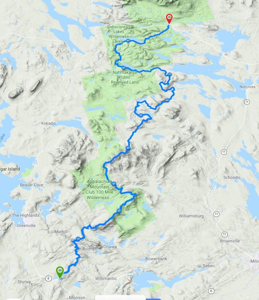 100 Mile Wilderness ChallengeWild Open Charlotte Clews | Wild ...  Mile Wilderness Map on